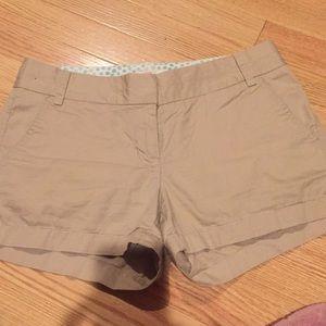 Jcrew khaki shorts size 2 inseam 3